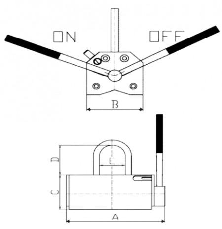 Chwytak magnetyczny BHP 250
